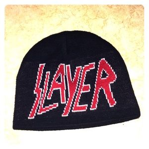 SLAYER knit beanie REVERSIBLE!  EUC